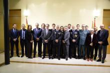 Miembros de la Comisión Nacional para combatir la manipulación de las competiciones deportivas y el fraude en las apuestas (CONFAD)